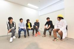 (左から)増川弘明、升秀夫、藤原基央、直井由文、山崎貴監督、川田十夢