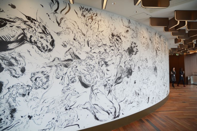 圧巻の迫力!六本木ヒルズウエストウォーク4Fに展示する天野喜孝氏による『百鬼夜行』
