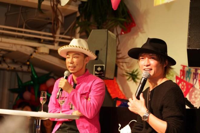 テキーラフェスタ東京でEXILE USAと対談するINORAN