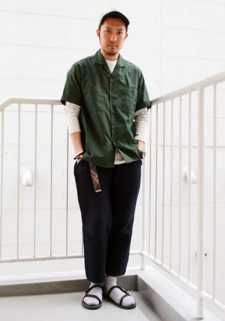 「ビーミング by ビームス」のオープンカラーシャツ5900円(税抜)