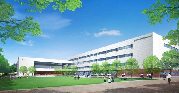 2016年春に移転する、ポートアイランドの新校舎イメージ