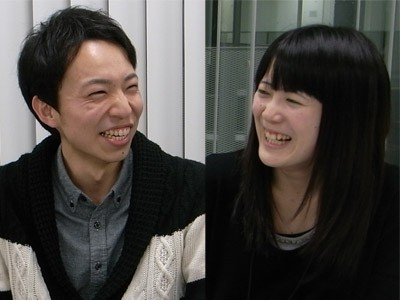 薬学部の加藤宏樹さん、岡央子さん