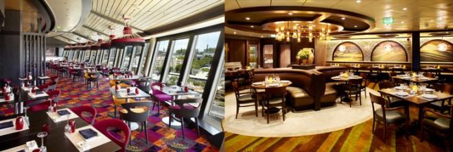 スペシャリティレストラン「イズミ」と「ジョバンニズ・テーブル」(右)