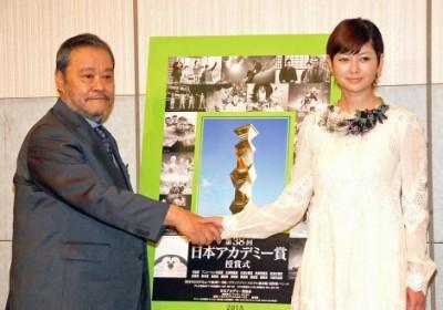 『第38回 日本アカデミー賞』の司会を務める西田敏行、真木よう子
