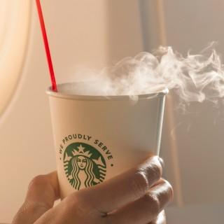 すべての路線でスターバックスのコーヒー提供!