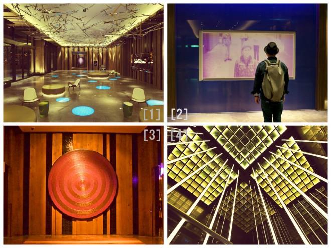 """[1][2][3]エントランスには、遊び心溢れる仕掛けがたくさん [4]""""非日常へ誘う""""エレベーター"""