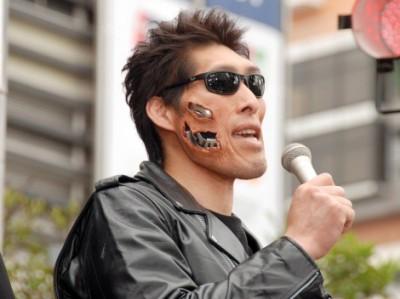 特殊メイクに1時間! 「日本のターミネーター」としてイベントに登場した篠原信一