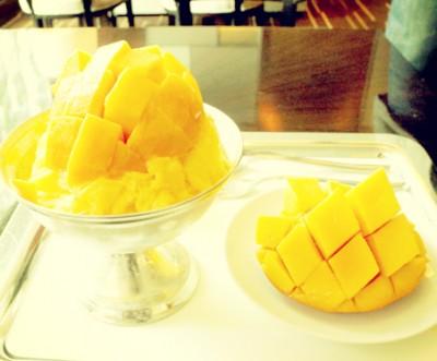 チェジュ島産のマンゴーパッピンス