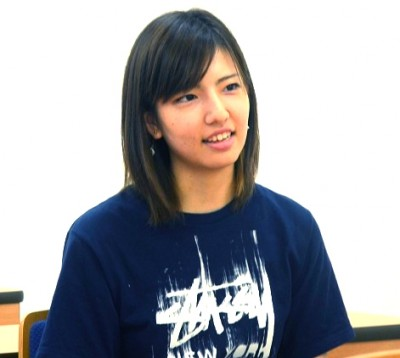 法学部・1年次生 井上朝野香さん