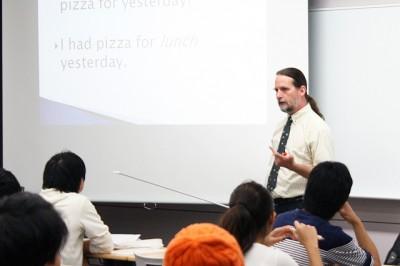 J.W.ラッシュ先生の英語授業の様子