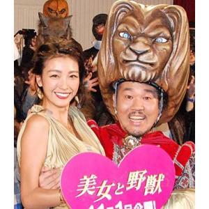 映画『美女と野獣』公開記念&ハロウィン記念トークイベントに夫妻で出席した(左から)木下優樹菜&藤本敏史