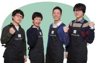 東大料理愛好会/左からイ・ヒジュンさん、津坂章仁さん、長瀬大夢さん、藤後順己さん