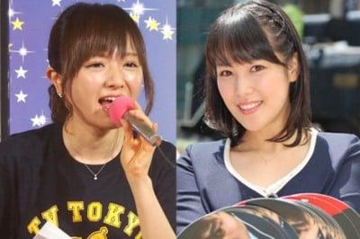 イベントでも活躍する紺野あさ美アナと鷲見玲奈アナ(右)