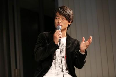 『ゲリラシネマ』トークショーに登壇した尾崎裕哉 写真/Toyohiro Matsushima
