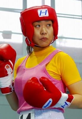 女子ボクサーとして五輪出場を目指した、南海キャンディーズのしずちゃん (C)ORICON NewS inc.