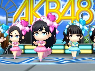 AKB48メンバーで構成された画面