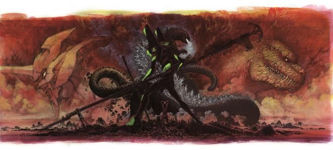 前田真宏氏が手がけた『ゴジラ対エヴァンゲリオン』イメージボード