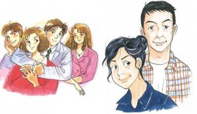 『東京ラブストーリー』の新作読切が25年ぶりに登場! リカとカンチの25年後が描かれる(写真右) (C)柴門ふみ/小学館
