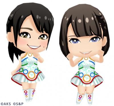 左から倉野尾成美、小田えりなのキャラ画像
