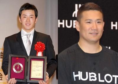 現在は共にプロの世界で活躍する(左から)斎藤佑樹選手と田中将大選手 (C)ORICON NewS inc.