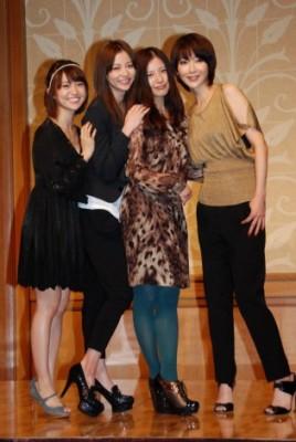 ドラマ『私が恋愛できない理由』メインキャストの(左から)大島優子、香里奈、吉高由里子、稲森いずみ (C)ORICON DD inc.