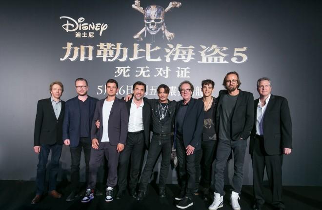 上海で行われたワールドプレミア後の記者会見