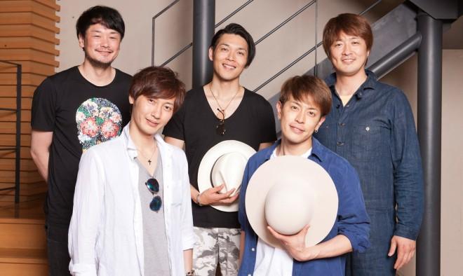 (上段左から)小田井涼平、白川裕二郎、酒井一圭(下段左から)後上翔太、友井雄亮