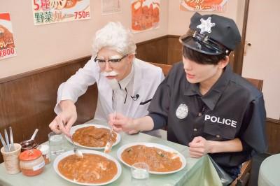 カーネル歌広場がオススメする湯島の日乃屋カレー本店を訪問。名代上メンチカツカレー、ほうれん草カレー、チーズカレーの3種をそれぞれ実食。