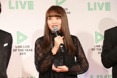 LINE LIVER部門は「おしゃれでPOPなJKライブ」のねおが受賞