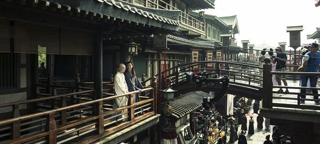 唐の首都・長安の街そのものを再現した大規模なセットでの『空海−KU-KAI−美しき王妃の謎』メイキングカット