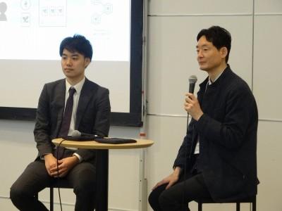Ginco代表取締役の森川夢佑斗氏(左)と慶應義塾大学・SFC研究所上席所員の斉藤賢爾氏