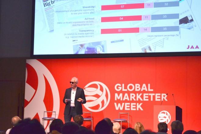世界広告主連盟会長のデイビット・ウェルドン氏