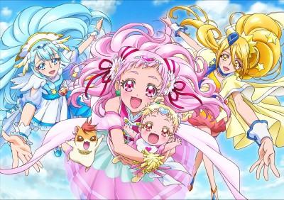 ABCテレビ・テレビ朝日系で放送中のアニメ『HUGっと!プリキュア』メインキャラクター(C)ABC-A・東映アニメーション