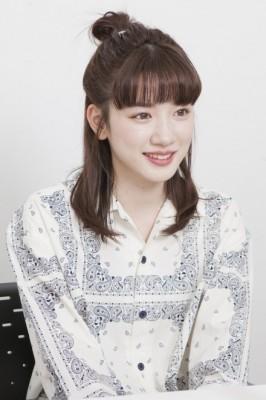 "NHK朝ドラ『半分、青い。』で""スズメ""役を好演している永野芽郁"