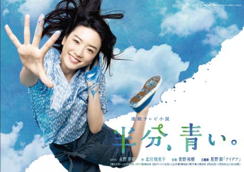 連続テレビ小説『半分、青い。』でヒロインを演じる永野芽郁