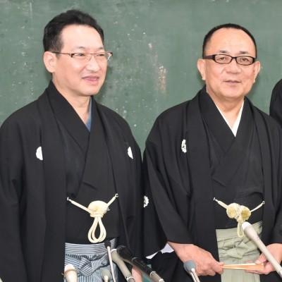 落語芸術協会の会見に出席した(左から)春風亭昇太、三遊亭小遊三(C)ORICON NewS inc.