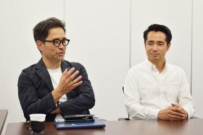 左からスーパーダディ協会の高橋一晃氏、小原氏