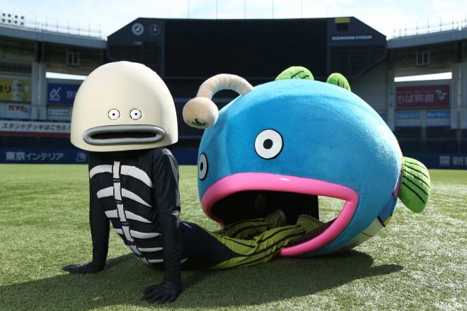 千葉ロッテマリーンズの新キャラクター「謎の魚」
