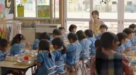 教室で園児たちとお昼ごはんタイム!