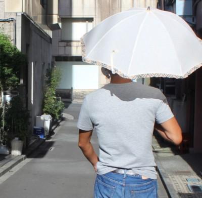"""巷では""""日傘男子""""が増えている"""