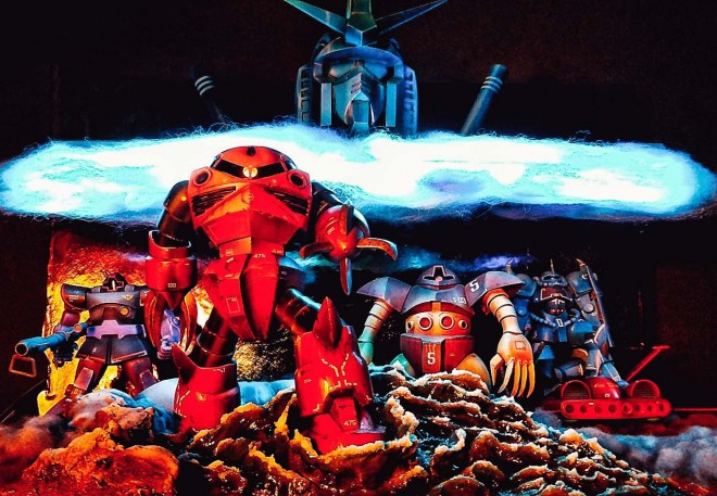 大河原邦男が描いた「機動戦士ガンダムII 哀戦士編」ポスターを再現 製作:コーディ(C)創通:サンライズ