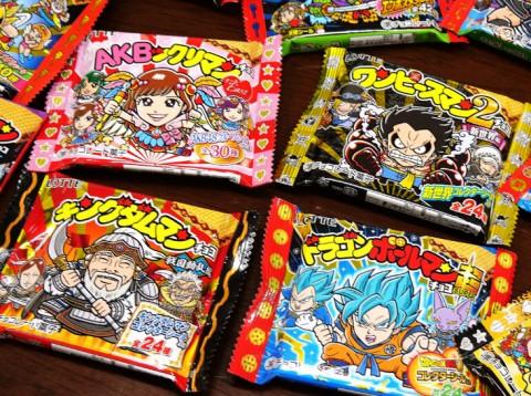 AKB48、ワンピース、ドラゴンボール、キングダムまで、『ビックリマンチョコ』とのコラボ商品(C)LOTTE/ビックリマンプロジェクト
