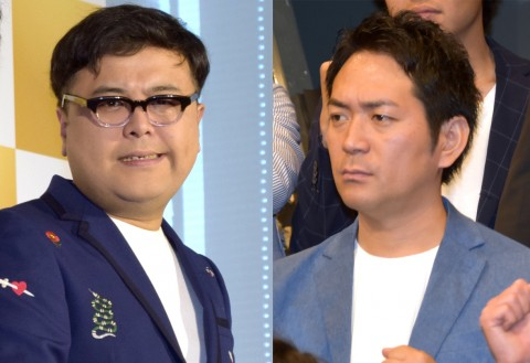 (左から)とろサーモン・久保田かずのぶ、 スーパーマラドーナ・武智(C)ORICON NewS inc.