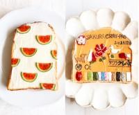 スイカ柄にまさかの模写も…かわいすぎるトーストアートがSNSで話題「手軽さも魅力」