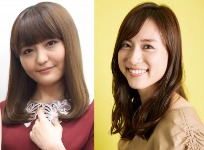 (左)昨年出産していたことを明かした声優で歌手の野中藍、(右)第一子の妊娠を報告したTBSの笹川友里アナ