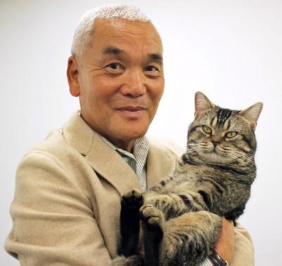 岩合光昭氏と猫のベーコン