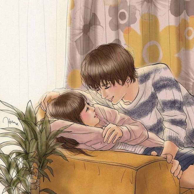切なすぎる カップルイラスト がsnsで共感呼ぶ 官能イラストレーターが 愛 描く理由 Oricon News
