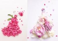 """花びらとイラストでつくる""""はな言葉""""に癒される人続出「鑑賞後の花に新たな価値を」"""