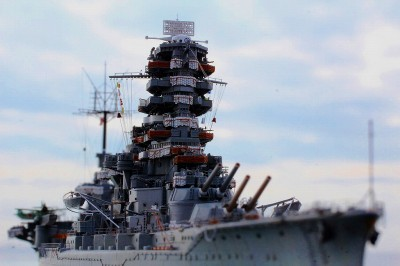 まるで実物? 作品名:1/700 旧日本海軍航空戦艦「伊勢」 製作:R工廠