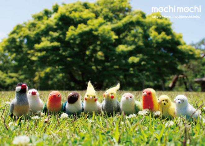 nao'さんによる、鳥の羊毛フェルト作品